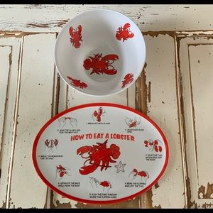 How To Eat A Lobster Plate and Bowl Set